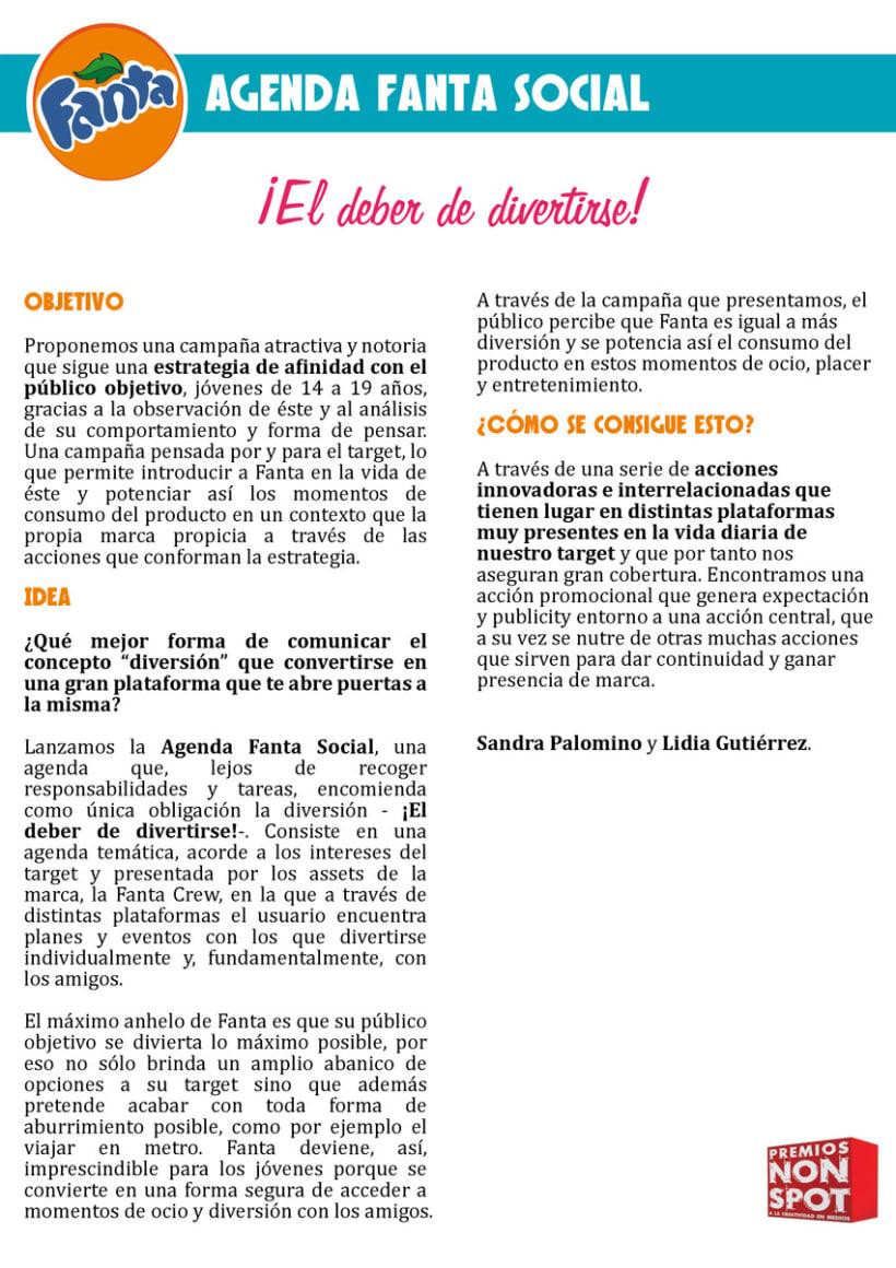 AGENDA FANTA SOCIAL, Premios Non Spot 2012. 3