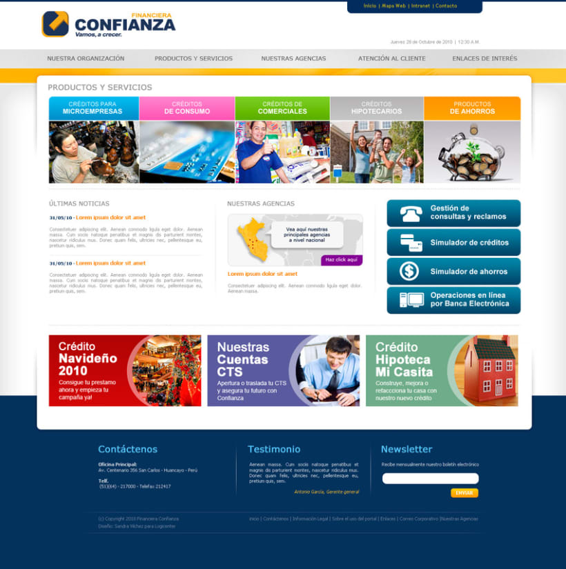 Website financiera confianza 2