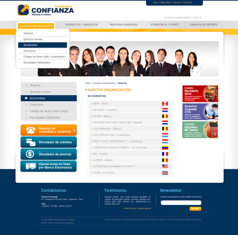 Website financiera confianza 1