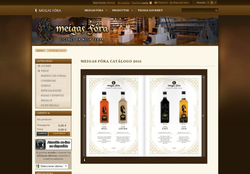 Meigas Fóra web tienda on-line 2011 4