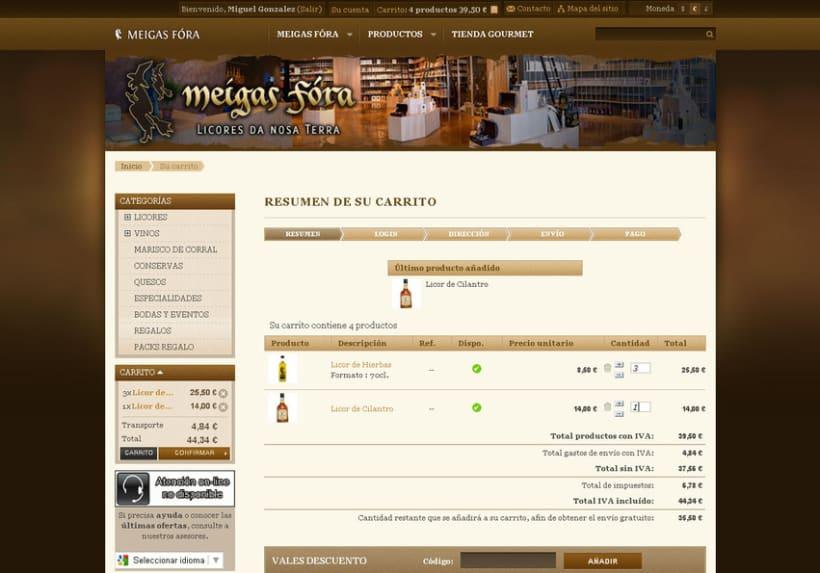 Meigas Fóra web tienda on-line 2011 9