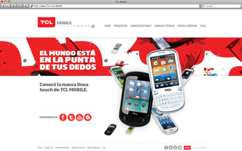 TCL mobile website 2