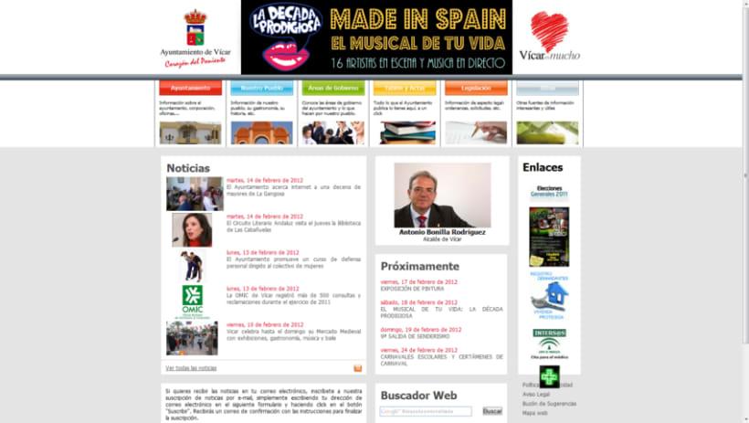 Web del Ayuntamiento de Vícar 1