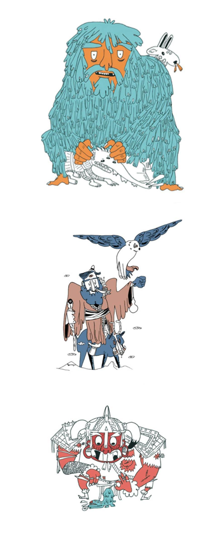 Ilustraciones para serigrafía 1
