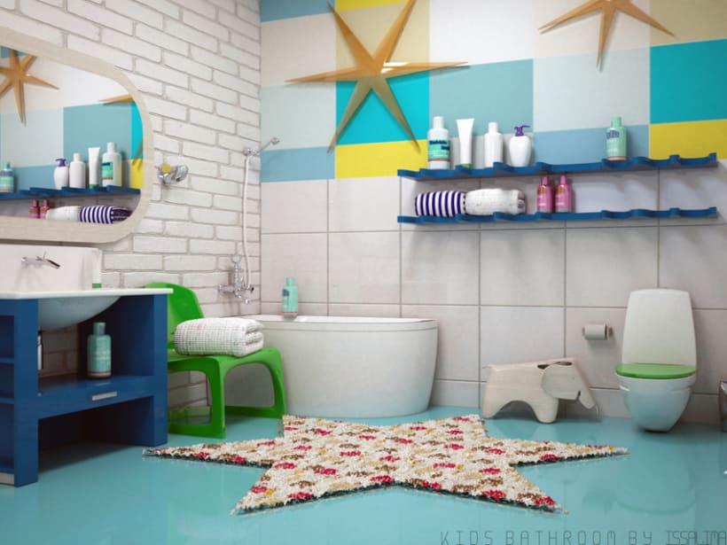 Baño infantil | Domestika