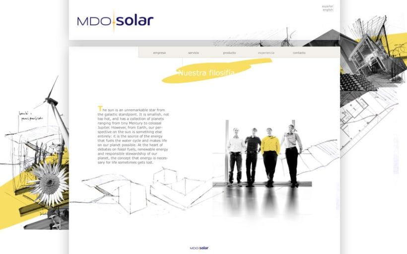 Diseño WEB para MDO solar 1