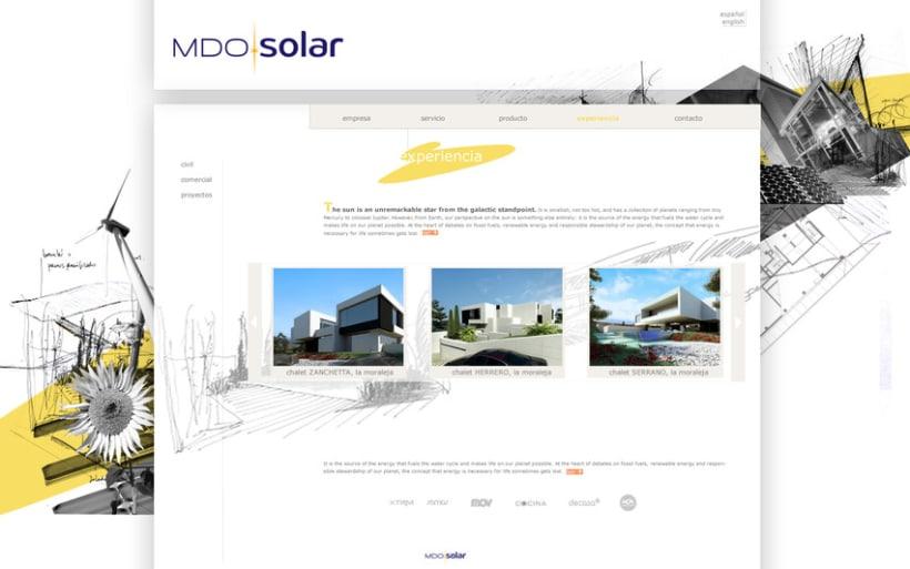Diseño WEB para MDO solar 2