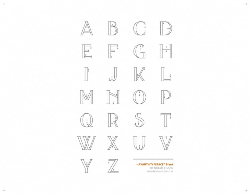 AVANTH typeface 3