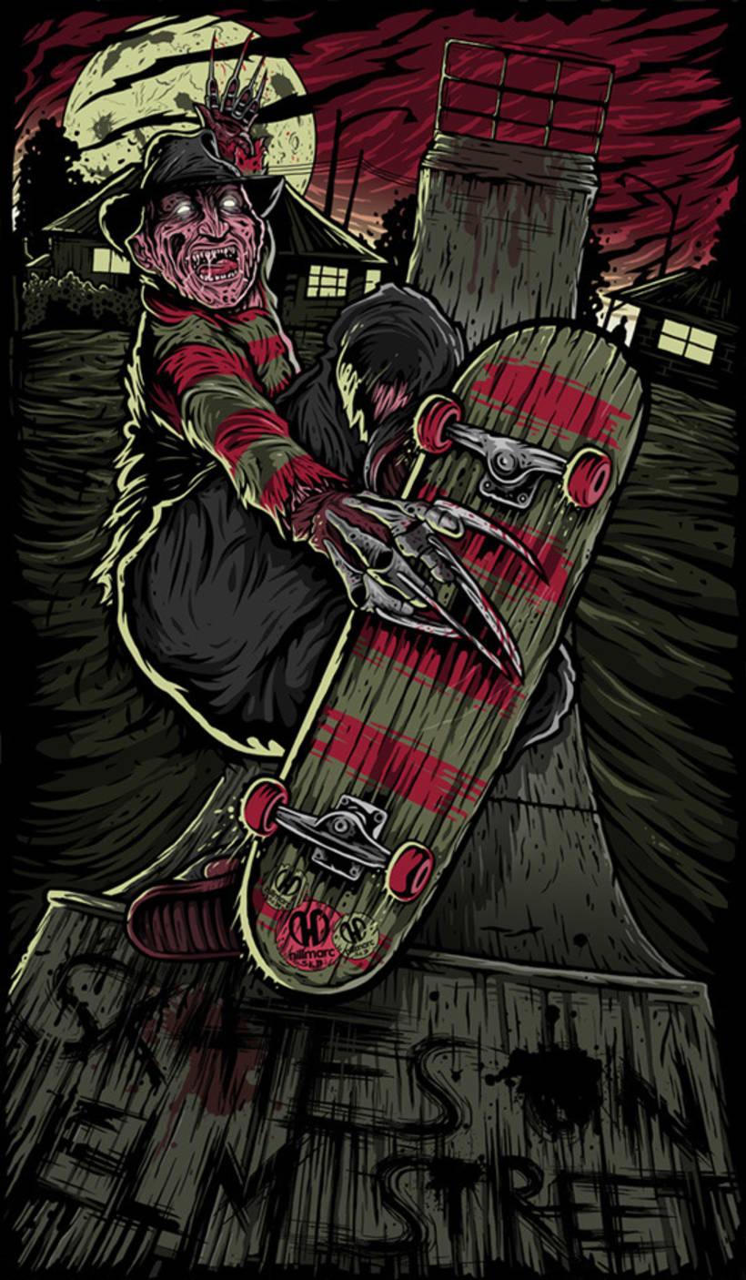 Skates on Elm street 1