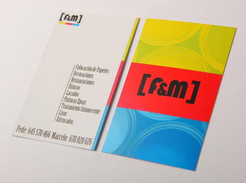 Tarjeta de visita F&M 1