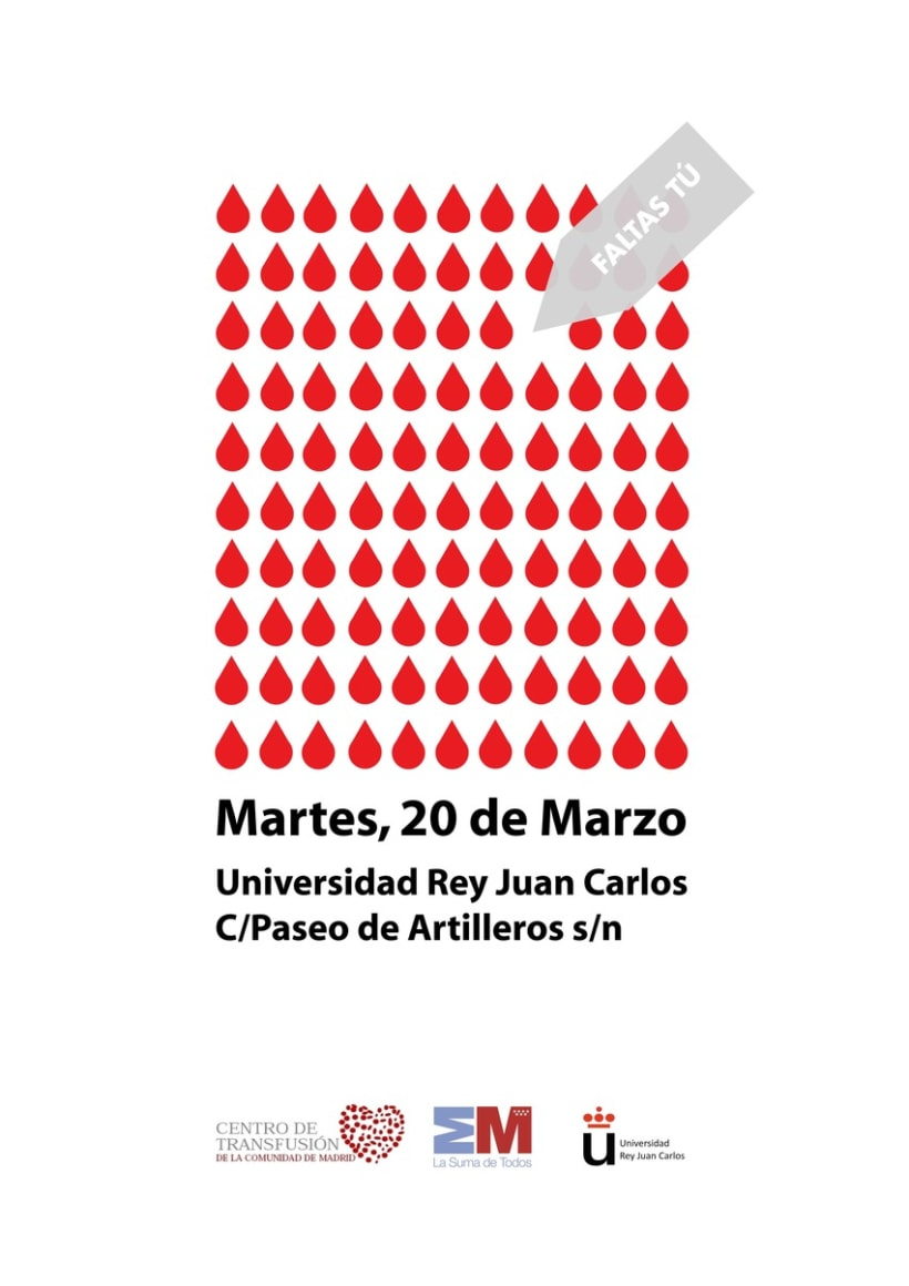 cartel donación de sangre 1
