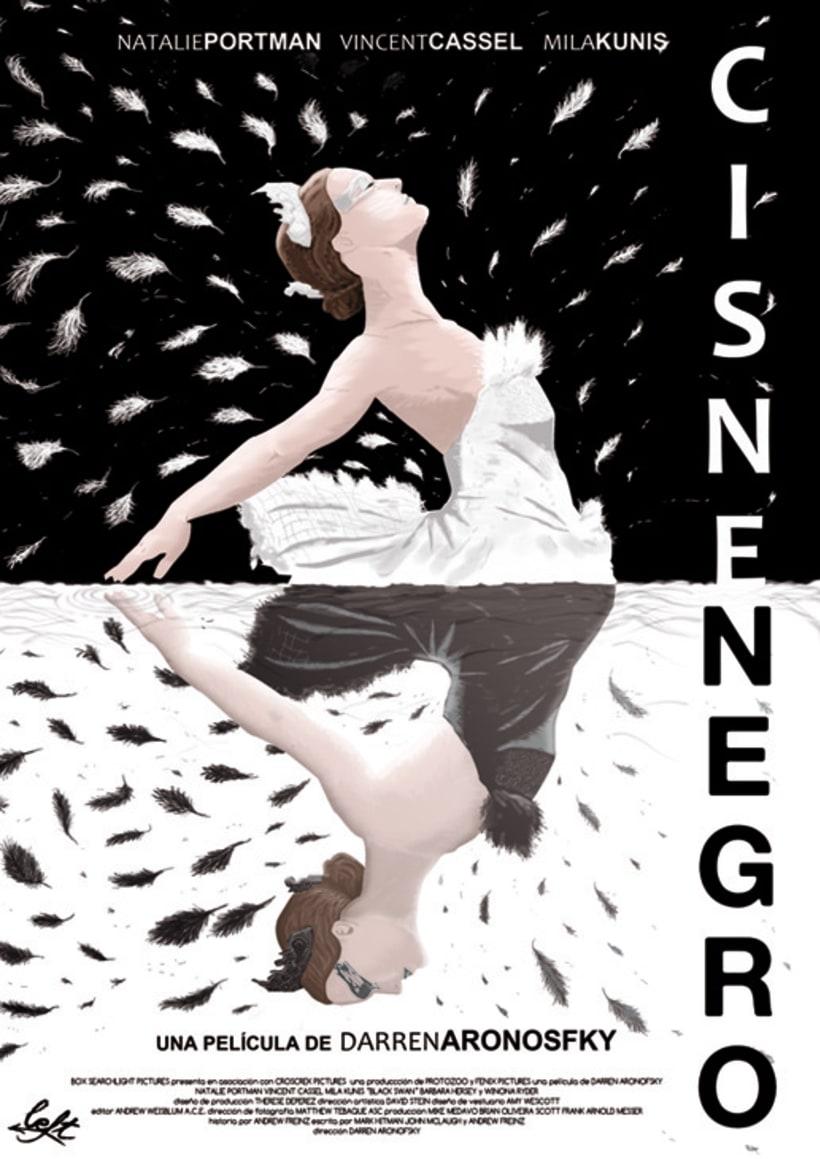 """Cartel """"Cisne Negro"""" 1"""
