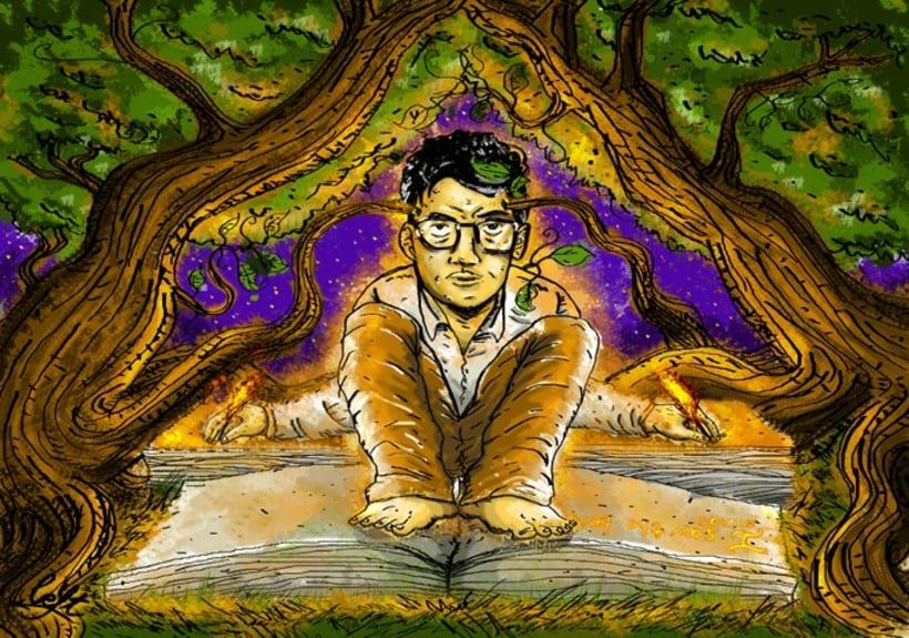 """Ilustraciones para el libro """"Aullido y otros poemas"""" 2"""