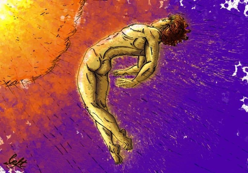 """Ilustraciones para el libro """"Aullido y otros poemas"""" 3"""