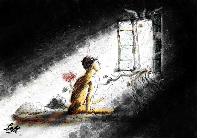 """Ilustraciones para el libro """"Aullido y otros poemas"""" 5"""