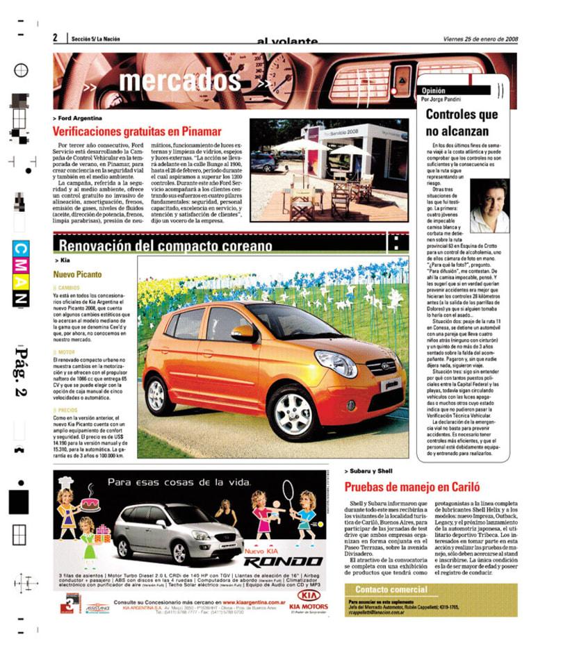 Suplemento Al Volante, Diario La Nación 2