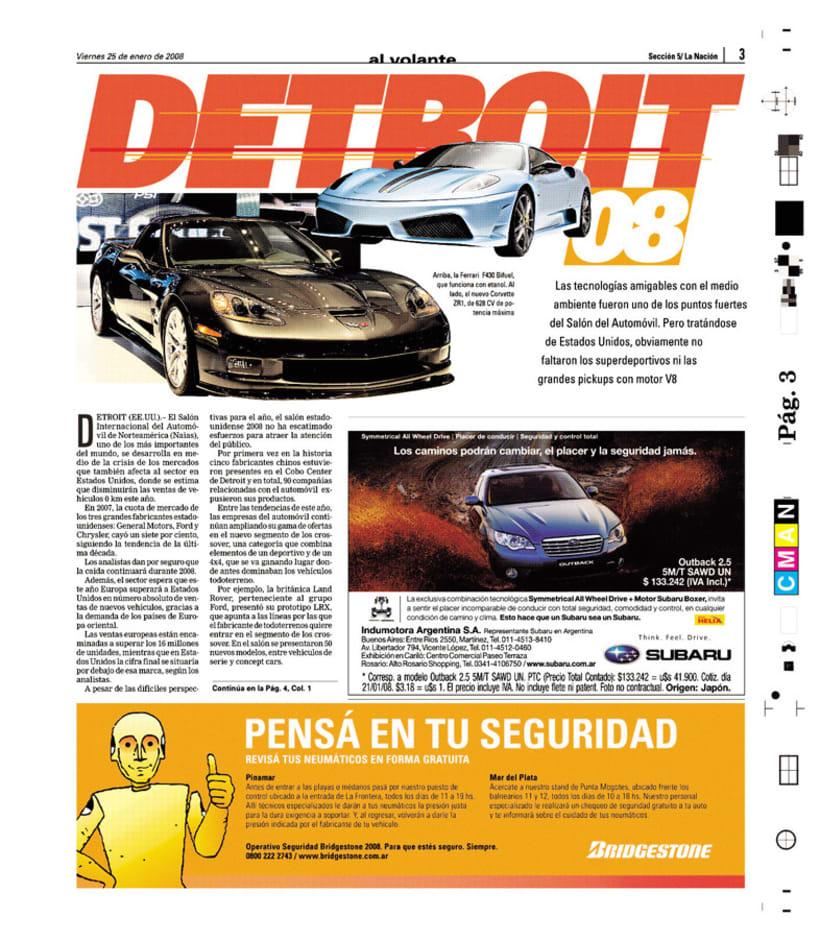 Suplemento Al Volante, Diario La Nación 3