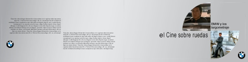 Boceto de catalogo para BMW 3