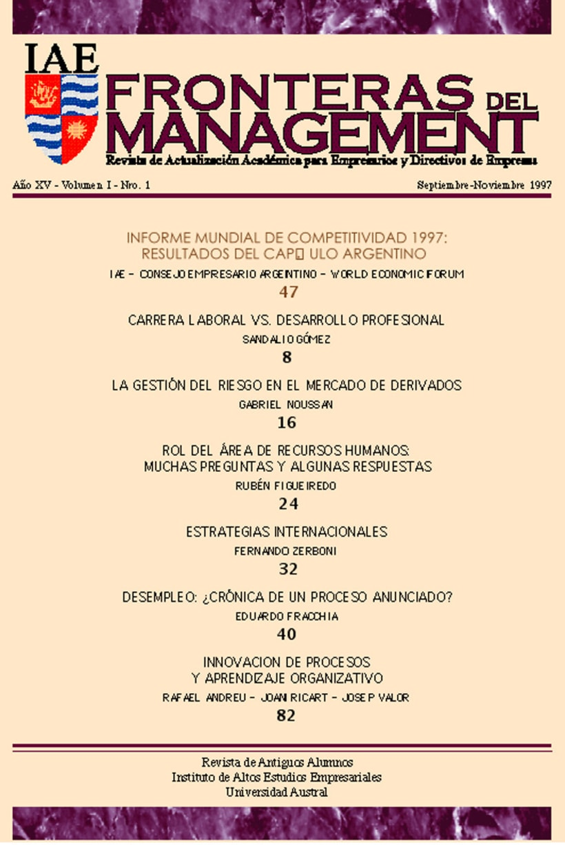 IAE, revista de antiguos alunmos, Fronteras del Management 1