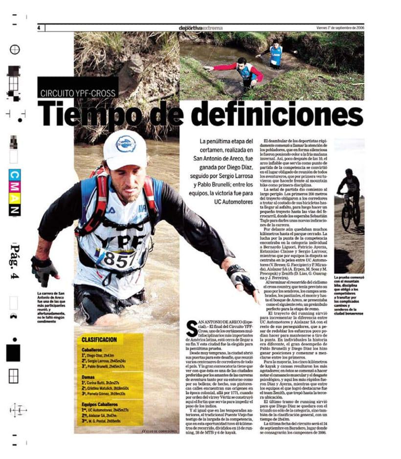 Deportiva Xtrema, Diario La Nación 9