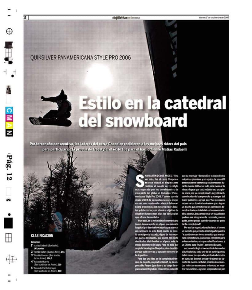 Deportiva Xtrema, Diario La Nación 10