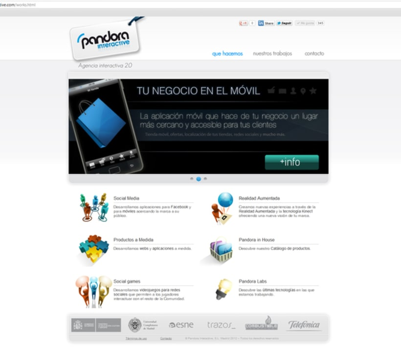 Diseño web PandoraInt 4