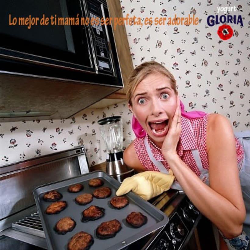 """Campaña """" Mamá lo tuyo no es ser perfecta, es ser adorable"""" de yogurt Gloria 3"""
