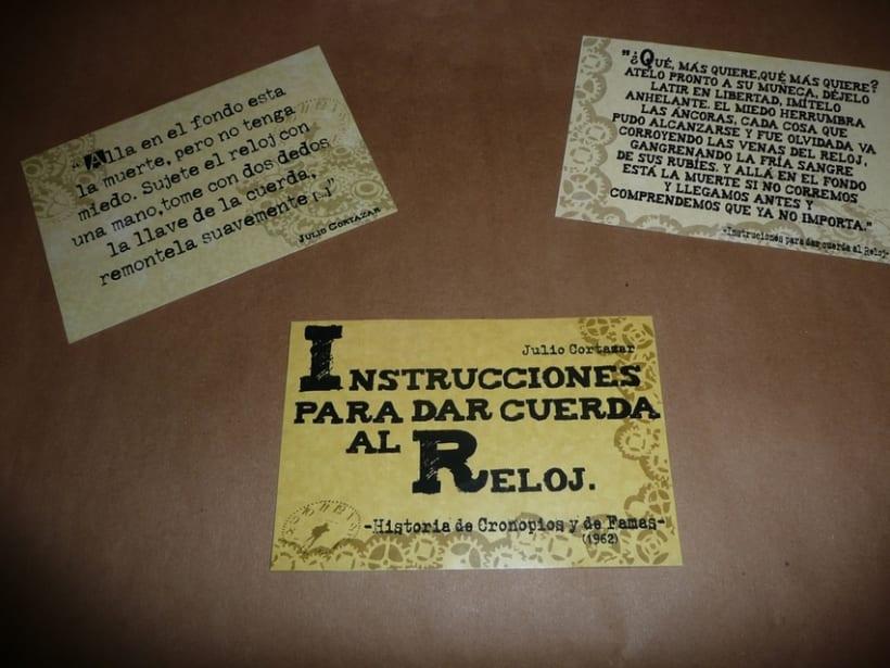 Instrucciones para dar cueda al reloj- postales 6