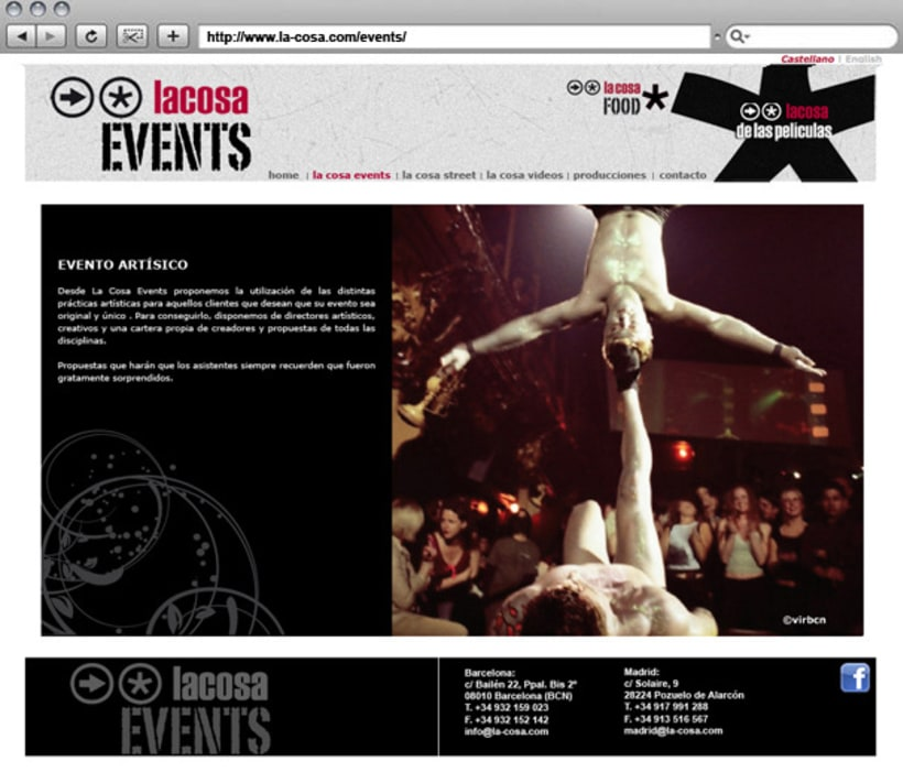 Web La cosa EVENTS 6
