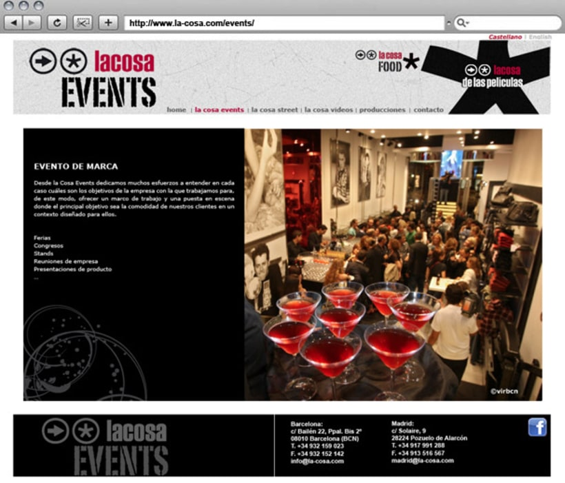 Web La cosa EVENTS 4