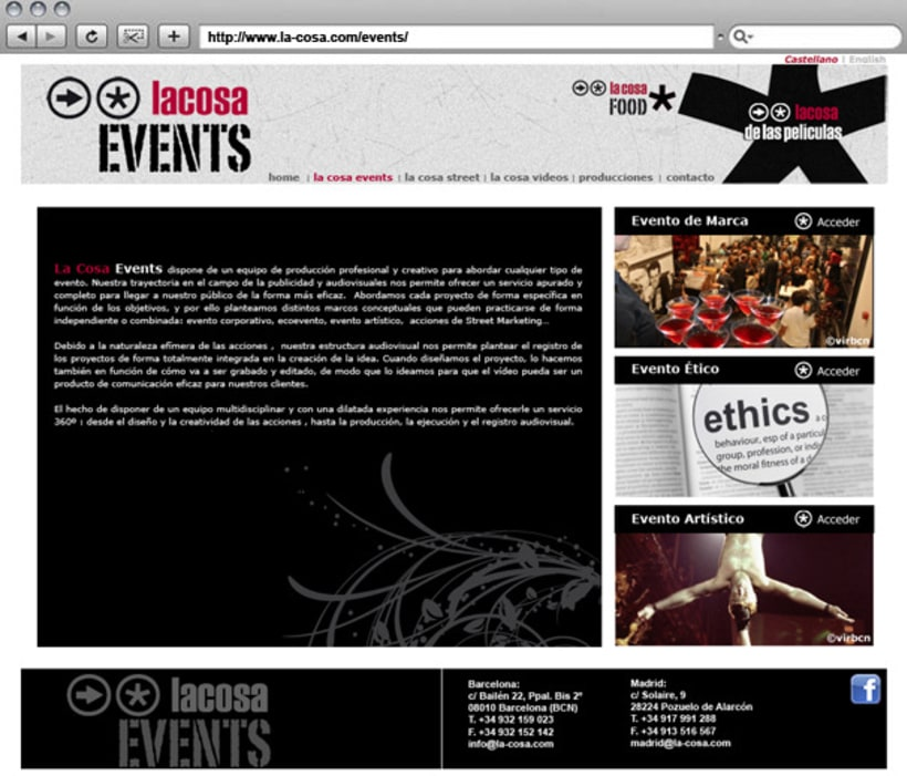 Web La cosa EVENTS 3