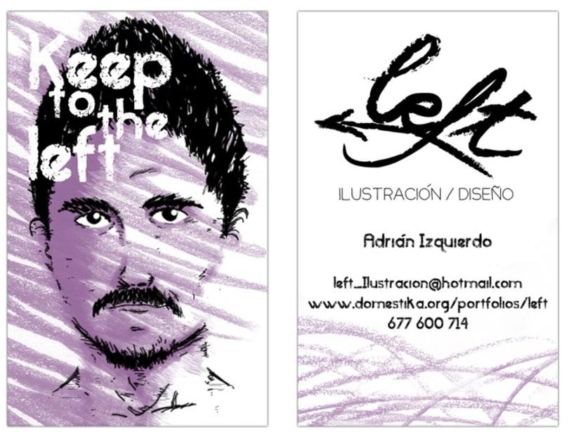 """Tarjeta de visita """"Left Ilustración"""" 1"""
