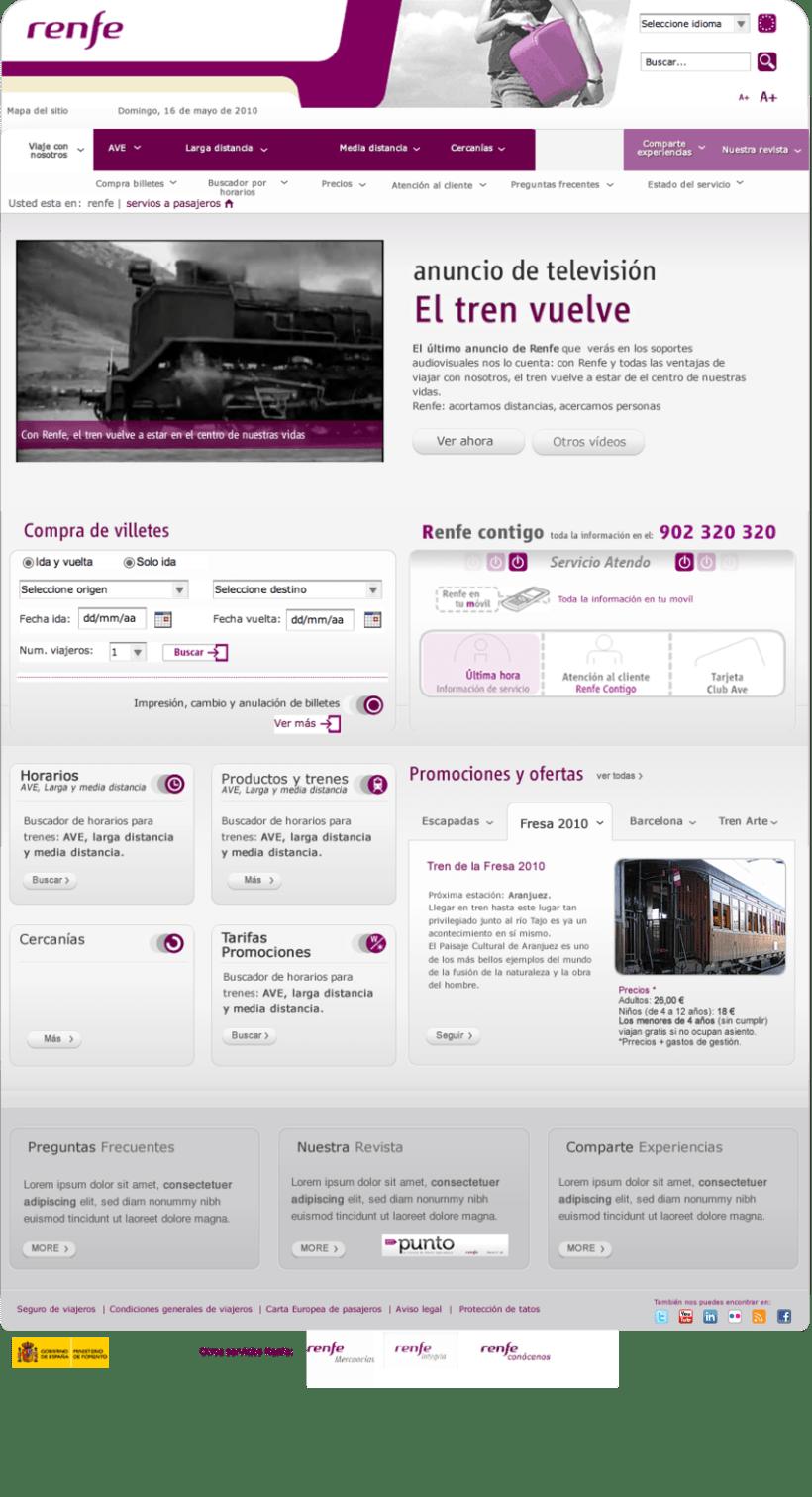 Arquitectura de la información y usabilidad. Estudio Web Renfe 2