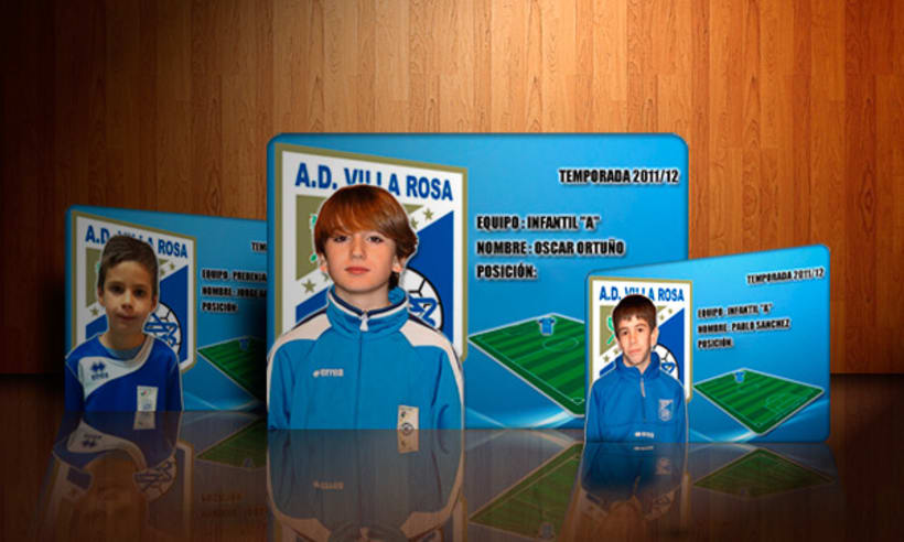 Football players webcards 1