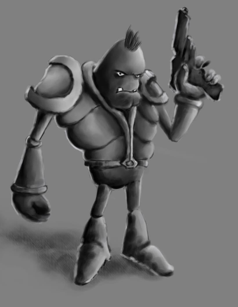 Conept Art para personaje 3D 4