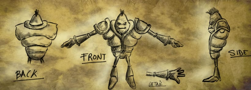 Conept Art para personaje 3D 1