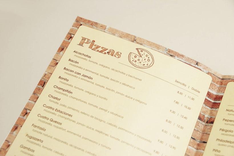 Carta del Restaurante La Pérgola 2