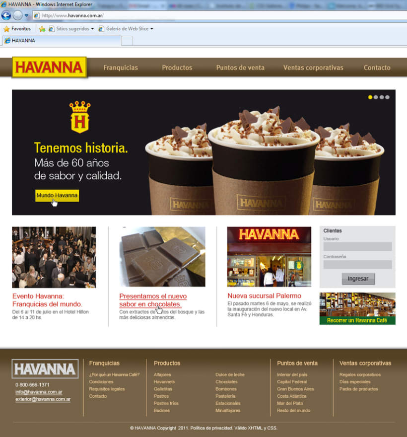 Sitio web Havanna 2