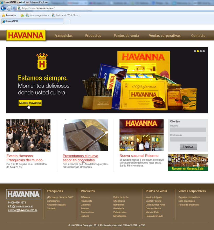 Sitio web Havanna 4