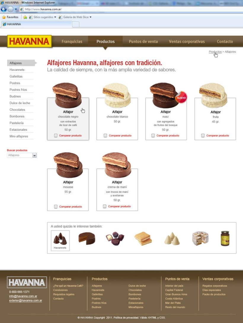 Sitio web Havanna 8