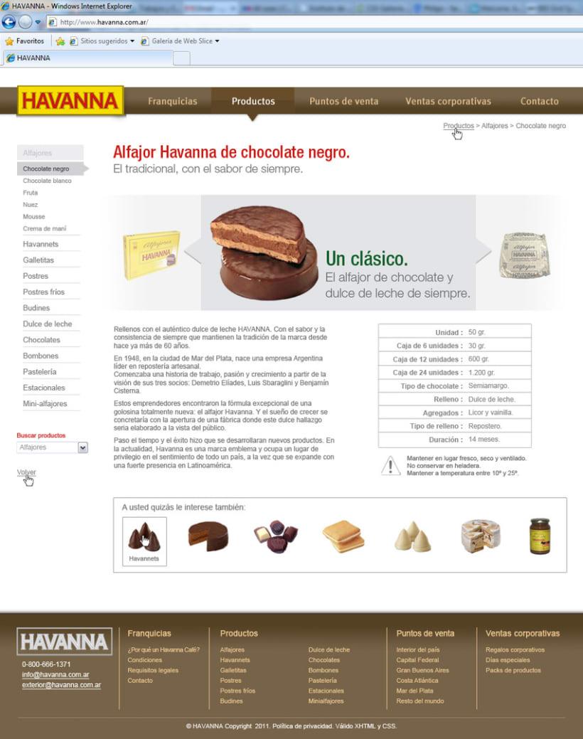 Sitio web Havanna 7