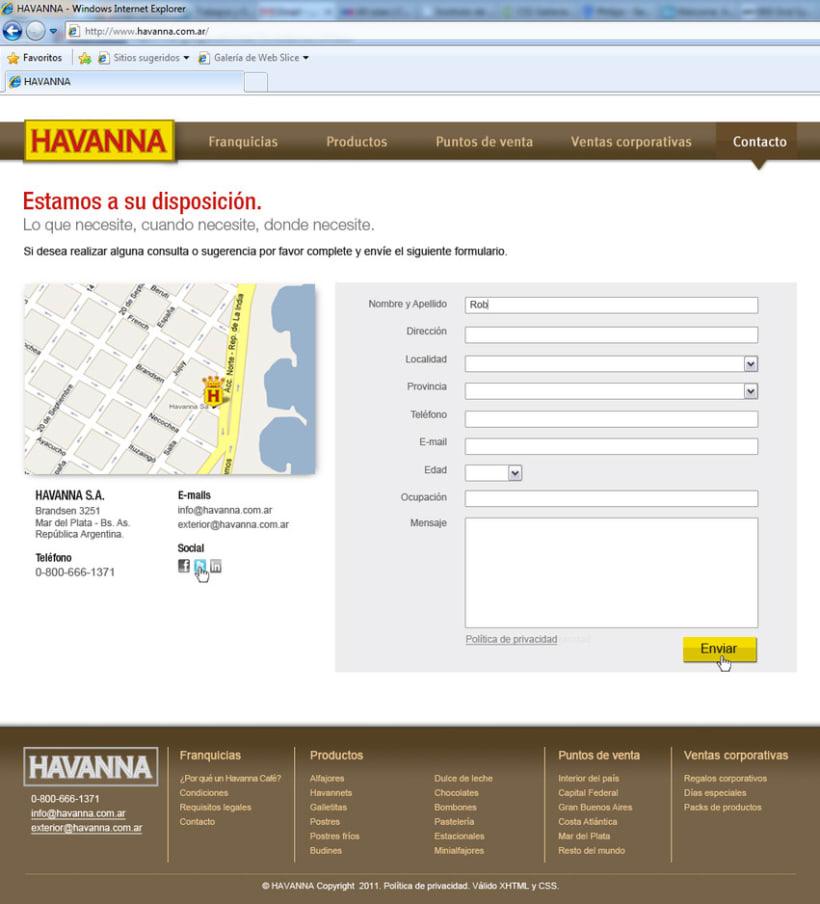 Sitio web Havanna 5