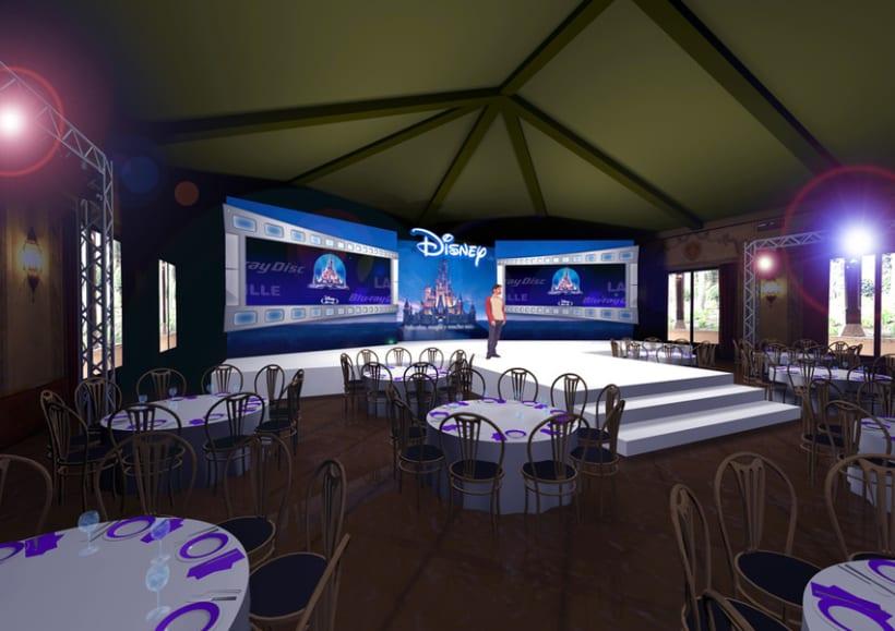 Diseño escenografía Disney Blu Ray 1