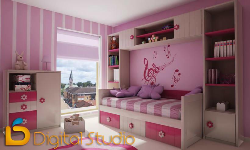 Interiores 3d - Dormitorios 1