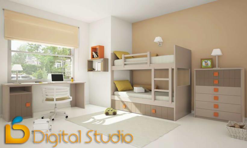 Interiores 3d - Dormitorios 2