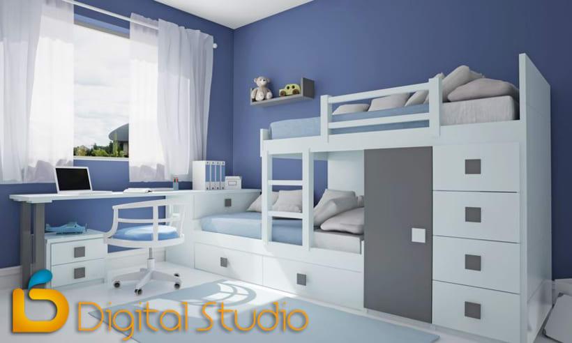 Interiores 3d - Dormitorios 3