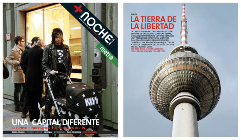 Art direction and layout: +Noche and Metrozin magazines 4