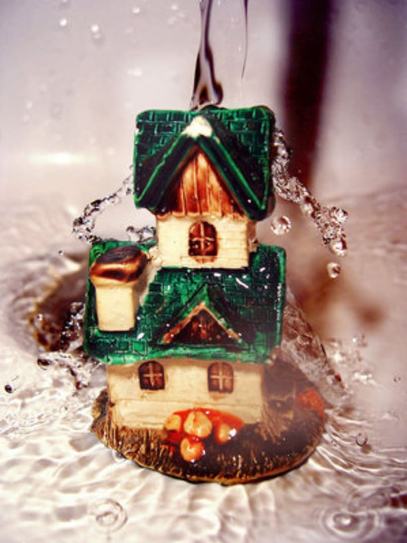 the house shining in the water 1