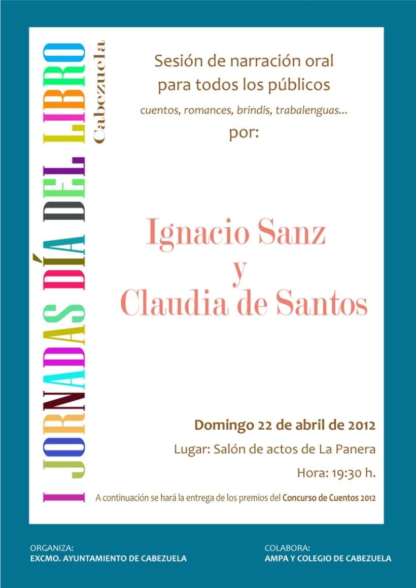 Cartel I Jornadas del Libro Cabezuela 1