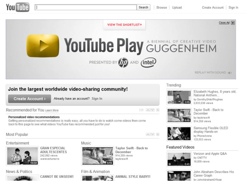 YouTube Play 3
